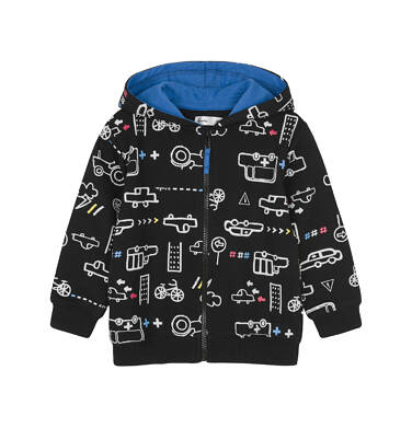 Bluza rozpinana z kapturem dla dziecka 0-3 lata N91C021_1