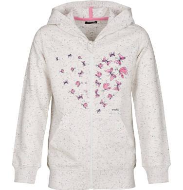 Bluza rozpinana z kapturem dla dziewczynki 9-13 lat D91C522_1