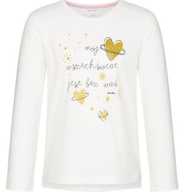 Endo - Bluzka z długim rękawem dla dziewczynki, mój świat jest bez wad, złamana biel, 9-13 lat D92G581_1 178