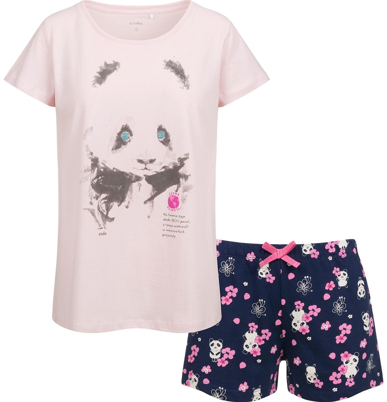 Endo - Piżama damska, deseń w pandy Y03V005_1