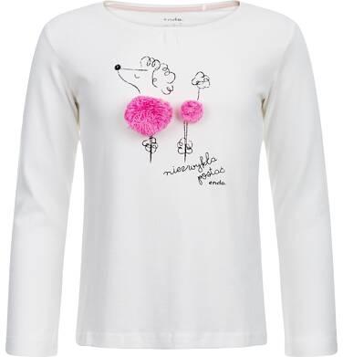 """Endo - """"Niezwykła postać"""" T-shirt z długim rękawem dla dziewczynki 9-13 lat D82G514_1"""