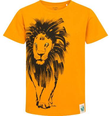 Endo - T-shirt z krótkim rękawem dla chłopca, z lwem, pomarańczowy, 9-13 lat C05G073_2 186
