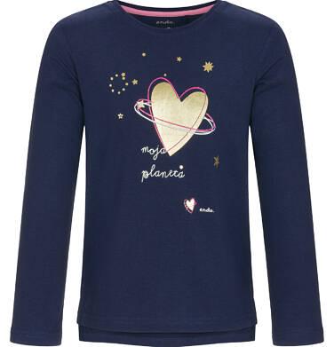 Endo - Bluzka z długim rękawem dla dziewczynki 9-13 lat D92G586_1