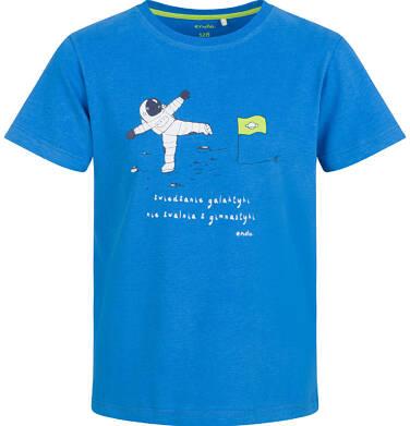 Endo - T-shirt z krótkim rękawem dla chłopca, z kosmonautą, niebieski, 2-8 lat C03G099_1 22