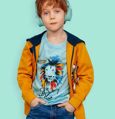 Endo - T-shirt z krótkim rękawem dla chłopca, z kolorowym lwem, niebieski, 2-8 lat C05G080_1 123