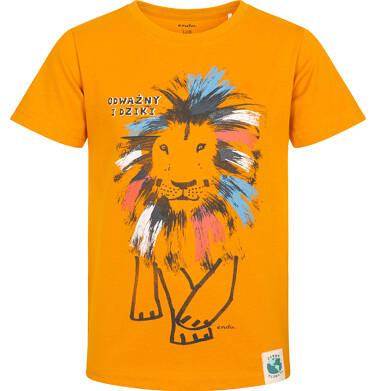 Endo - T-shirt z krótkim rękawem dla chłopca, z kolorowym lwem, pomarańczowy, 2-8 lat C05G080_2 26
