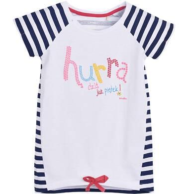 Endo - Tunika z krótkim rękawem dla dziewczynki 3-8 lat D81G061_1