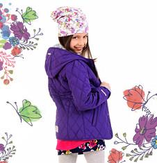 Pikowana kurtka z kapturem dla dziewczynki 4-8 lat D71A004_2