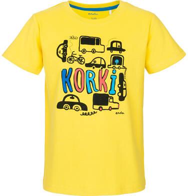 Endo - T-shirt z krótkim rękawem dla chłopca 3-8 lat C91G093_1
