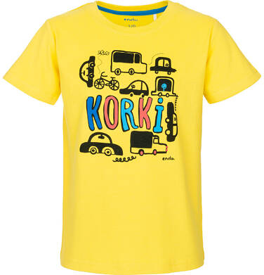 Endo - T-shirt z krótkim rękawem dla chłopca 9-13 lat C91G593_1