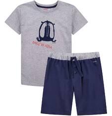 Piżama z krótkimi spodenkami dla chłopca 4-8 lat C71V002_1