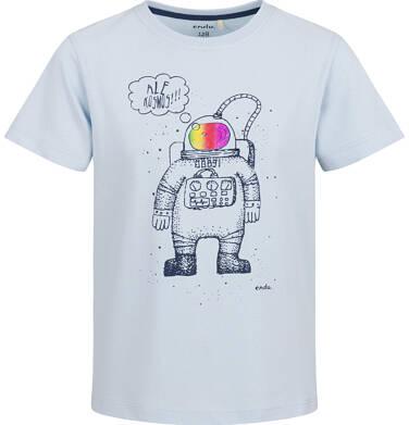 Endo - T-shirt z krótkim rękawem dla chłopca, kosmiczny motyw, niebieski, 2-8 lat C03G102_1 19