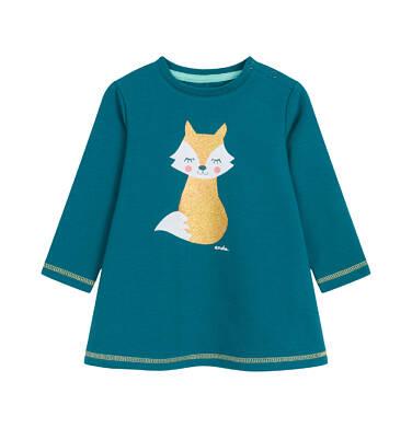 Endo - Sukienka z długim rękawem dla dziecka 0-3 lata N92H036_1
