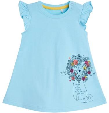 Endo - Sukienka z krótkim rękawem dla dziecka 0-3 lata N81H002_1