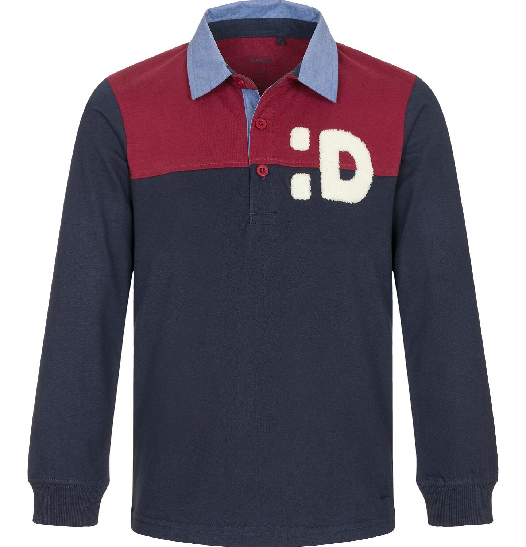 Endo - T-shirt polo z długim rękawem dla chłopca 3-8 lat C92G004_1