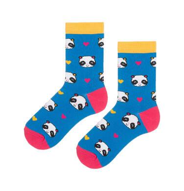 Endo - Kolorowe skarpetki dziecięce w pandy D08P001_1 138