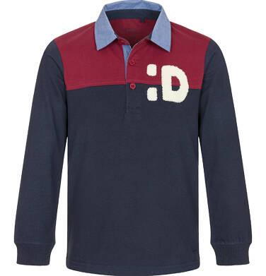 Endo - T-shirt polo z długim rękawem dla chłopca 9-13 lat C92G504_1