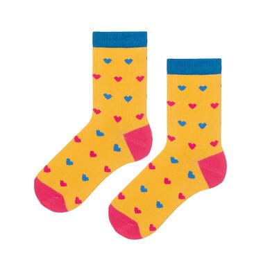 Endo - Kolorowe skarpetki dziecięce w serduszka D08P002_1 137