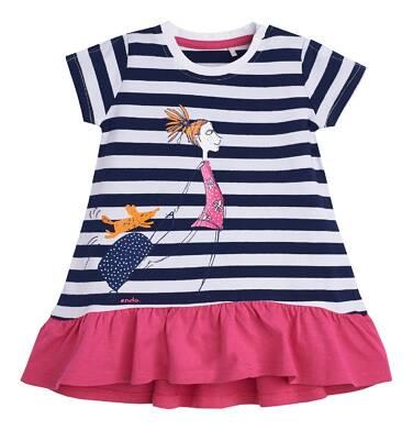 Sukienka z krótkim rękawem dla dziecka 0-3 lata N81H005_1