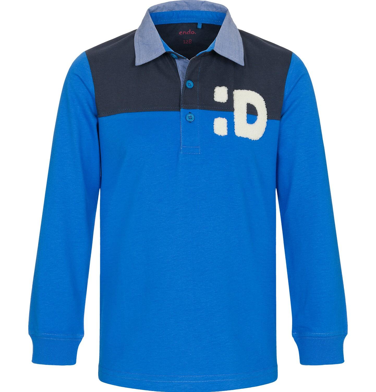 Endo - T-shirt polo z długim rękawem dla chłopca 3-8 lat C92G004_2