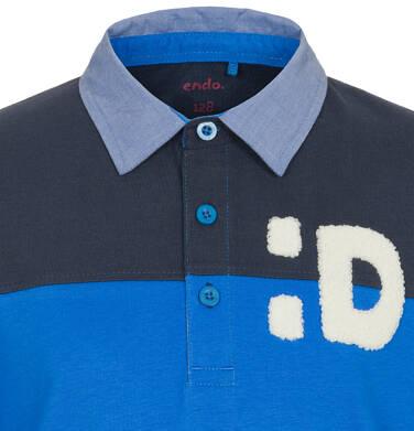 Endo - T-shirt polo z długim rękawem dla chłopca 3-8 lat C92G004_2,2