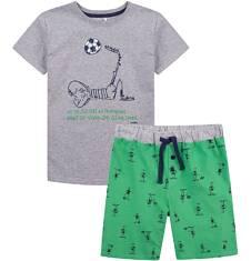 Piżama z krótkimi spodenkami dla chłopca 4-8 lat C71V005_1