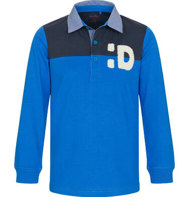 Endo - T-shirt polo z długim rękawem dla chłopca 9-13 lat C92G504_2