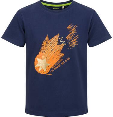 Endo - T-shirt z krótkim rękawem dla chłopca, ze spadającą gwiazdą, granatowy, 2-8 lat C03G105_1 15