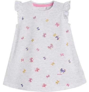 Endo - Sukienka z krótkim rękawem dla dziecka 0-3 lata N81H007_1