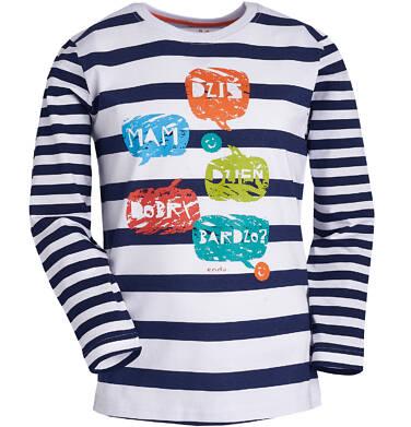 Endo - T-shirt z długim rękawem dla chłopca 3-8 lat C81G003_1