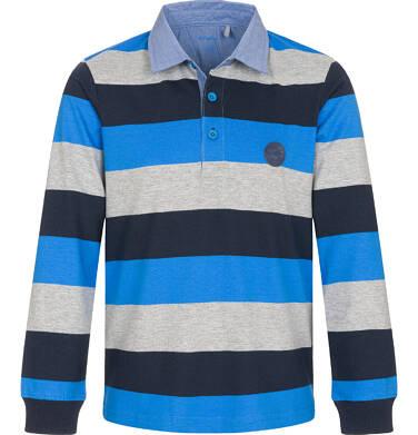 Endo - T-shirt polo z długim rękawem dla chłopca 9-13 lat C92G505_1