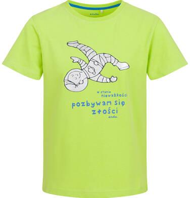 Endo - T-shirt z krótkim rękawem dla chłopca, stan nieważkości, limonkowy, 2-8 lat C03G108_1 13