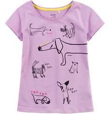 Bluzka z krótkim rękawem dla dziewczynki 4-8 lat D71G028_1