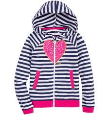 Bluza z kapturem na suwak dla dziewczynki 9-13 lat D71C531_1