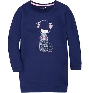 Endo - Ciepła sukienka dla dziewczynki 3-8 lat D72H010_1